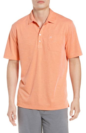 Men's Travis Mathew East Cape Pique Polo, Size Small - Pink