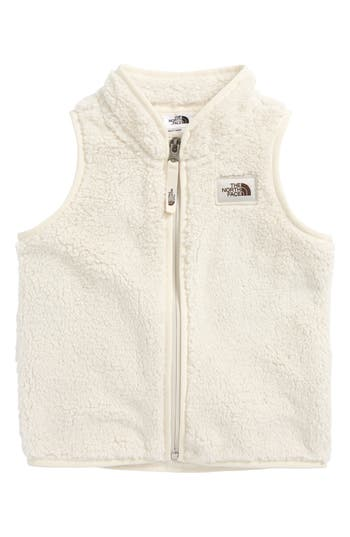 Infant Girl's The North Face Campshire Fleece Vest, Size 0-3M - White