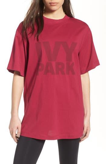 Ivy Park Programme Oversize Logo Tee, Purple