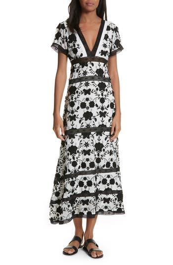 Joie Fusca Floral Print Maxi Dress, Black