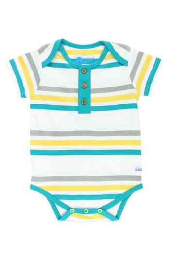 Infant Boy's Ruggedbutts Key West Stripe Bodysuit, Size 0-3M - Blue