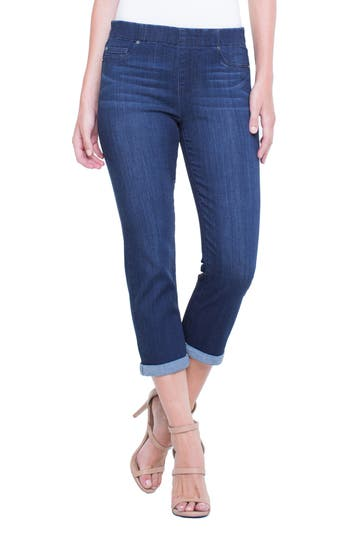Liverpool Jeans Company Chloe Roll Cuff Capri Denim Leggings, Blue
