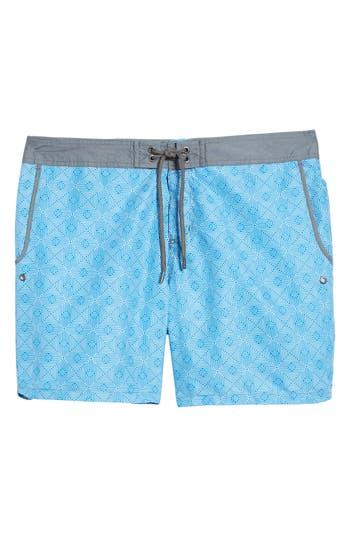 Mr. Swim Maze Print Swim Trunks, Blue