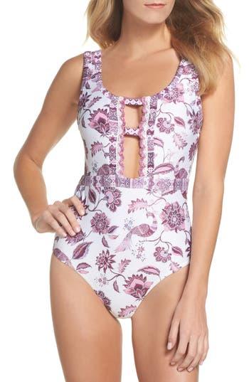 Becca Tahiti One-Piece Swimsuit, White