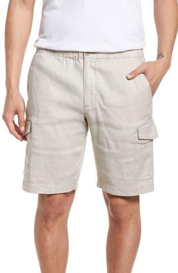 Mens Big  Tall Tommy Bahama Beach Linen Blend Cargo Shorts Size 3XLT  Brown