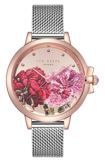 Ted Baker London Mesh Strap Watch,
