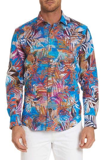 Men's Robert Graham Kingpin Louie Limited Edition Classic Fit Linen Sport Shirt