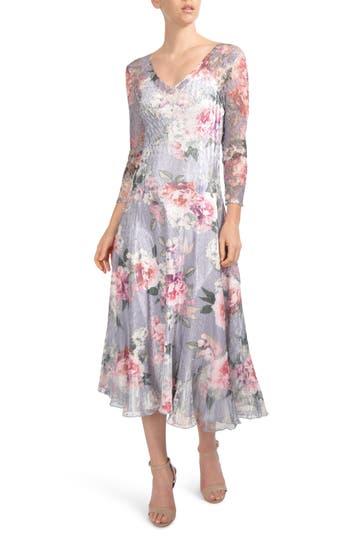 Komarov Charmeuse Midi Dress, Blue