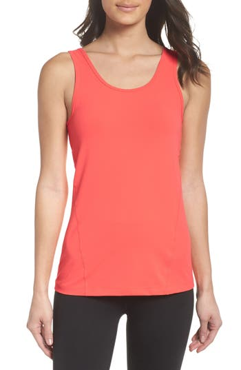 Zella Double Work Tank, Coral