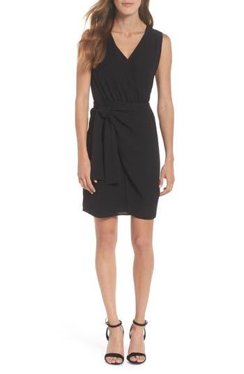 19 cooper female womens 19 cooper faux wrap tie dress size small black