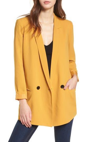 Women's Mural Oversize Blazer, Size X-Small - Yellow