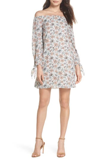 Sam Edelman Off The Shoulder Shift Dress, Pink