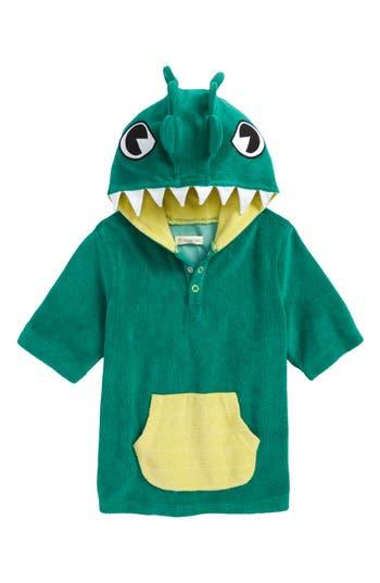 Boy's Tucker + Tate Green Lake Gator Towel Cover-Up, Size 4 - Green