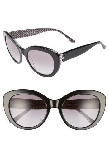Tory Burch Serif T 55mm Cat Eye Sunglasses