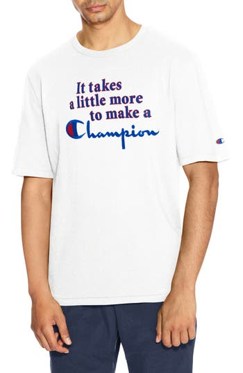 Champion Takes A Little More Heritage Graphic T-Shirt, White