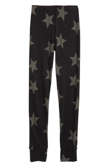 Girls Nununu Star Print Leggings Size 89Y  Grey