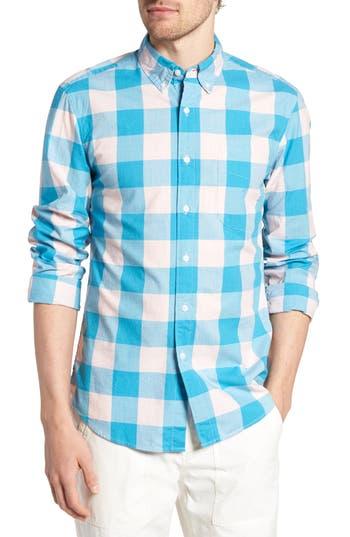 J.crew Slim Fit Heather Buffalo Check Shirt, Blue