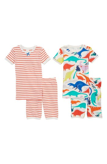 Girls Mini Boden 2Pack Fitted TwoPiece Pajamas