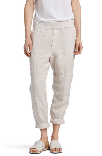PATCH LINEN PANTS