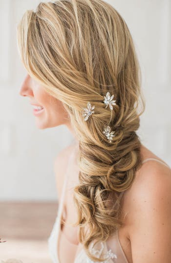 Brides & Hairpins Noa Set of 3 Crystal Hairpins