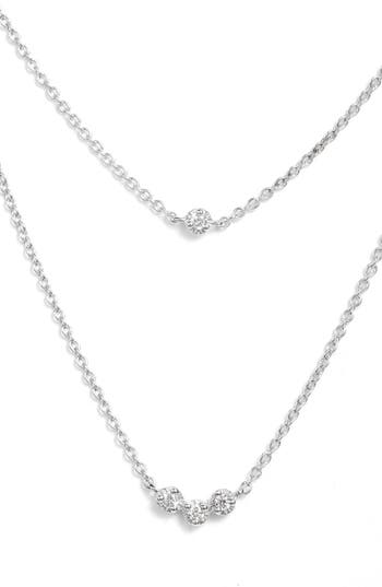 Bony Levy Mila Double Layer Diamond Station Necklace