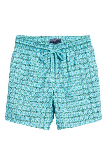Vilebrequin Four Elements Swim Trunks, Blue