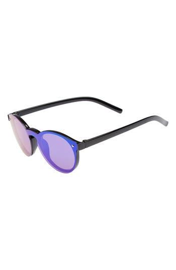 Boys Fantas Eyes Mirrored Sunglasses  Black Green Mirror