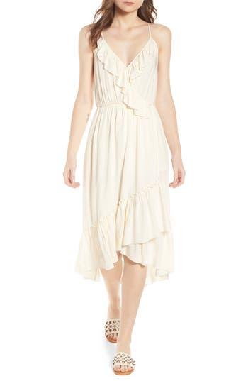 Womens Scotch  Soda Wrap Style Midi Dress Size XSmall  Ivory