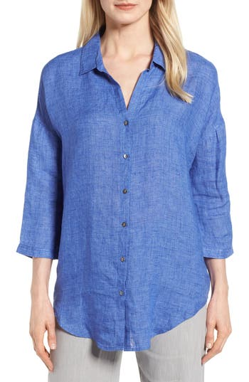JOY RIDE LINEN TUNIC TOP