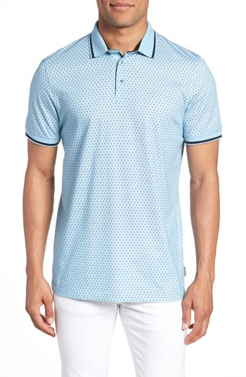Ted Baker London Abot Trim Fit Print Polo