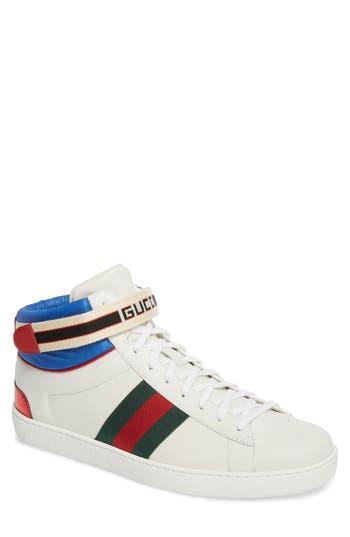 Gucci New Ace Stripe High Top Sneaker