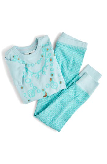 Girls Crewcuts By J Crew Mermaid Fitted TwoPiece Pajamas