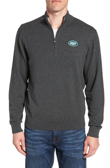 Cutter & Buck New York Jets - Lakemont Regular Fit Quarter Zip Sweater
