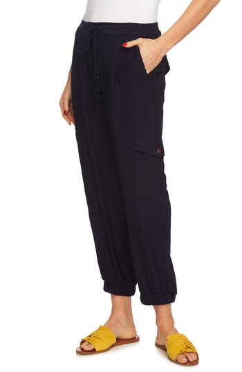 1.state Flat Front Cargo Pants, Blue