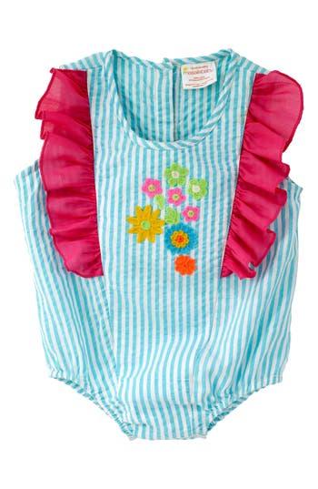 Infant Girls Masala Baby Stripe Bubble Bodysuit
