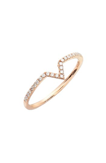 Bony Levy Open Triangle Stackable Diamond Ring