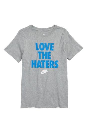 Boys Nike Sportswear Love The Haters Graphic TShirt
