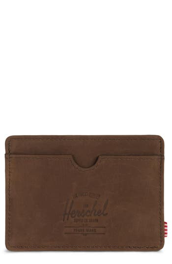 Herschel Supply Co. Charlie Nubuck Leather Card Case