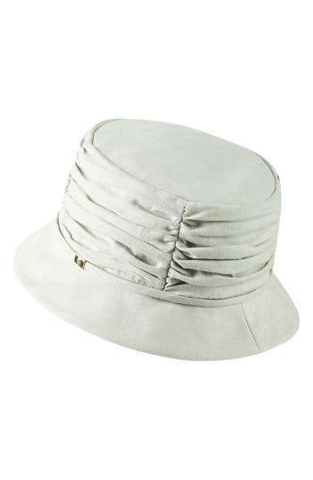 HELEN KAMINSKI CLASSIC LINEN BUCKET HAT - GREY