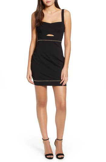 ASTR the Label Beaded Body-Con Dress