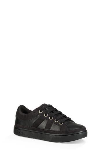 Boys Ugg Marcus Genuine Shearling Sneaker Size 4 M  Black