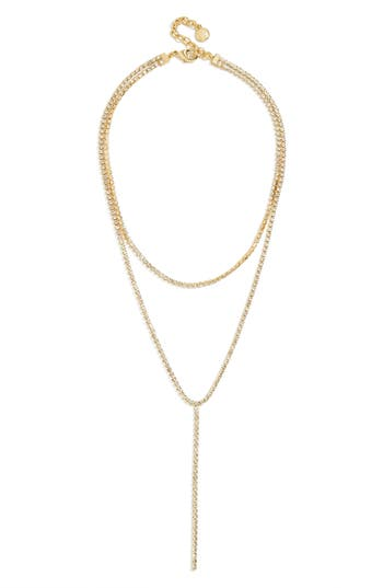 BaubleBar Skyler Layered Y Necklace