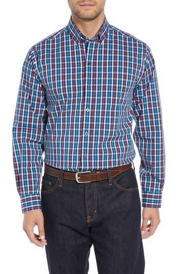 Men's Cutter & Buck Albert Regular Fit Wrinkle Free Check Sport Shirt