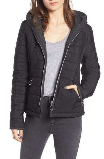 Maralyn & Me Hooded Quilted Jacket