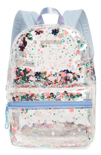 Girls Crewcuts By J Crew Clear Sequin Backpack