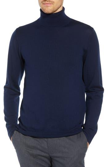 Men's Bonobos Slim Fit Turtleneck Merino Wool Sweater, Size Small - Blue