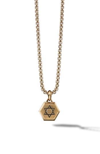 David Yurman Star of David 18K Gold Amulet Enhancer
