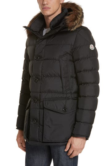 Moncler Cluny Giubbotto Down Parka with Genuine Coyote Fur Trim