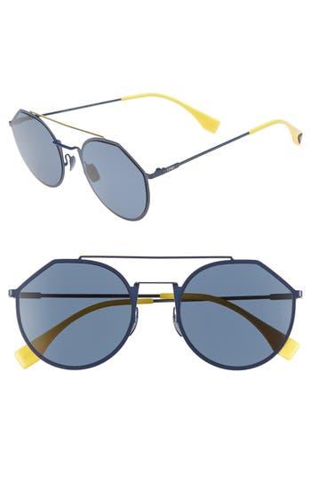 Fendi 54mm Polarized Round Sunglasses