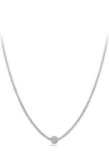 Women's David Yurman 'Petite Pavé' Necklace With Diamonds
